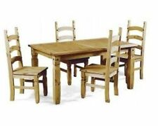 "Corona 5'0"" Dining Table and 4 Chairs Mexican Pine Set by Mercers Furniture"