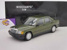 """Minichamps 155037001 # mercedes benz 190e (w201) año de fabricación 1982 """"grünmet."""" 1:18"""