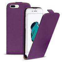 Flip Case Apple iPhone 7 Plus Hülle Pu Leder Klapphülle Handy Tasche Cover Lila