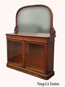 Antique French Country Sideboard Buffet with Mirror ~ Victorian Spanish Style