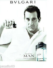 PUBLICITE ADVERTISING 066  2011  charisme masculin parfum homme Man    Bvulgari