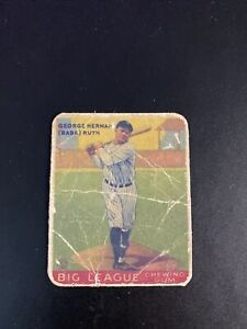 1933 Goudey #144 Babe Ruth, poor condition