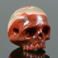 Red Jasper Human Skull Bead Guru Natural Indonesia 14.06 mm Carving 3.65g
