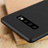 Luxury Synthetic Carbon Fiber Back Case Cover For Samsung Galaxy S10 Plus S10E