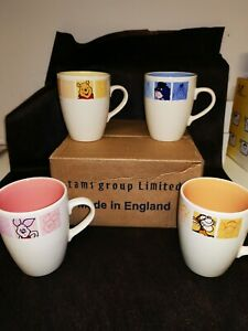 Disney vintage/retro by tams Winnie the Pooh, Tigger, piglet and Eeyore mug set