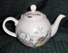 Arthur Wood Noah's Ark Teapot with Lid Tiger Giraffe Elephant Dove England