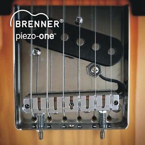 Brenner piezo-one saddle for Tele 4 hole ashtray bridge - hybrid guitar!