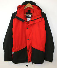 The North Face Vintage Gore Tex Rain Jacket Made USA Guide Red Black Mens Medium
