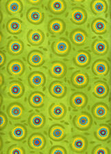 Mooshka Peacock Eye Green Quilt Fabric - 1 Yard
