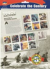 USPS Sheet of 15 Stamps Celebrate the Century 1940s World War 2 II 1999 3186