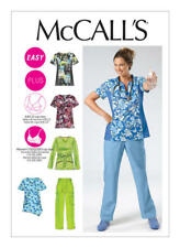 McCall's Sewing Pattern M6473 6473 Misses 8-16 Easy Scrubs Tops Shirt Pants