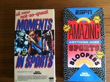 Lot of 2 VHS ESPN/Sports Illustrated Amazing Anything Goes Sports Bloopers