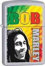 Zippo 2016 Catalog NEW Bob Marley Bright Green Yellow Red Satin Chrome 29126