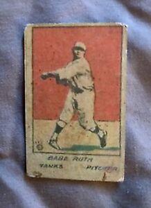1920 W 516 Babe Ruth Baseball Hand Cut Strip Card. *Read Below*