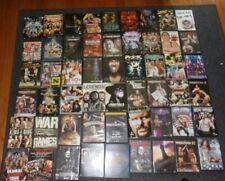 70 LOT HUGE COLLECTION WWF WCW WWE DVD ROYAL RUMBLE WRESTLEMANIA NWO WRESTLING