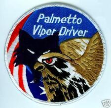 F-16 FIGHTING FALCON SWIRL PATCH 157 FS PALMETTO VIPER