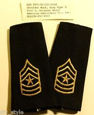 Sergeant Major Shoulder Marks US Army Large size mint condition 1985 gold thread