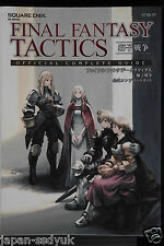 JAPAN Final Fantasy Tactics: The War of the Lions Official Complete Guide