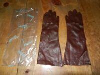 Vintage Pair of Hansen Brown Ladies Gloves
