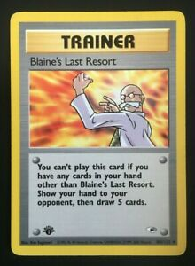 Pokemon Trainer Card Blaine's Last Resort 105/132 1st Edition! FREE SHIPPING!!!