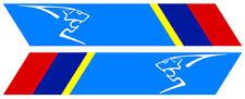 STICKER 2 X BANDES POUR PEUGEOT SPORT GTI RALLYE 25X4,5cm BANDE AUTO BB013