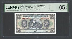 Haiti 2 Gourdes 1990 P254a Uncirculated Graded 65