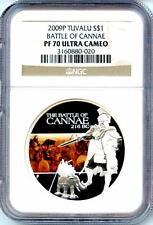 2009 P $1 Tuvalu Battle Of Cannae NGC PF70 Ultra Cameo