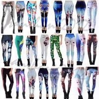 Frozen Women Leggings Colorful Digital Print Skinny Stretchy Pencil girls Pants