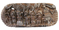 Story board, carved wood pannel, kambot, oceania