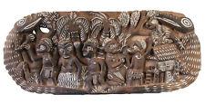 Story board, carved wood pannel, kambot, oceania