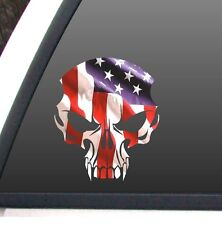 "American Flag INFIDEL Skull Decal 7""x 8"" Patriotic,Bumper Sticker, Truck, Car,"