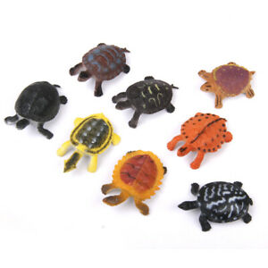 Pack of 8pcs Multicolored Tortoise Model Sea Animal Kids Party Favors
