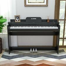 E-Klavier Digital Piano Keyboard 88 Tasten 3 Pedale mit USB/MIDI Schwarz M309