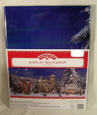 Christmas Decorations, Lighted Village House Display Backdrop, Snow Mountains