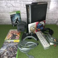 Xbox 360 Elite Console Falcon 120GB HDD Tested Working 1 Controller Bundle Games