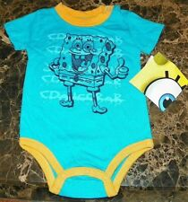 NEW SpongeBob Squarepants ~ INFANT CREEPER BODYSUIT ~ Boy's Sz 6M 9M Nickelodeon