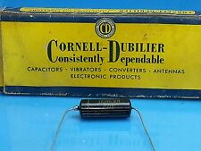 CORNELL DUBILLIER POI CAPACITOR .01 UF 600 V VOLT 1950 PAPER IN OIL NOS CUB 6S1
