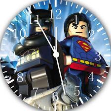 Lego Superman Batman Frameless senza Bordi Orologio da Parete per Regali O
