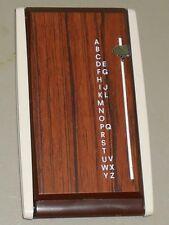 Vintage Flip Open Address Phone List Finder Desktop Faux Wood U. K. Reg. Appli.