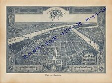 Werbung 1900 Land-Karte MANNHEIM Deutschland Baden-Württemberg Fluss Rhein Necka