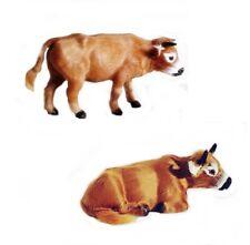 Kuh Ochse 8 cm Handarbeit Felltiere Felltier Krippenfiguren