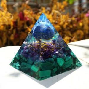 Orgonite Lapis Lazuli Sphere Orgone Pyramid Amethyst Malachite Crystal Healing