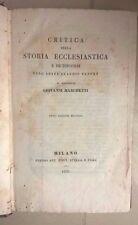 CRITICA DELLA STORIA ECCLESIASTICA FLEURY MARCHETTI 1836