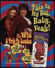 1999 AUSTIN POWERS - HEATHER GRAHAM - Spy Who Shagged Me - CORN NUTS VINTAGE AD