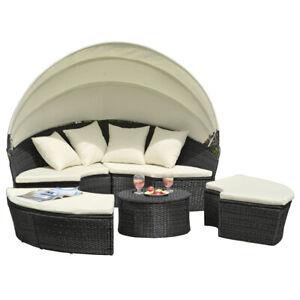 Sonneninsel Poly Rattan Ø180cm Lounge Sonnenliege  Wohnmöbel Gartenmöbel, GM-FC