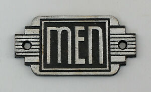 9977633 Metallguss Türschild Toilette Men Art deco rustikal 14,5x6cm