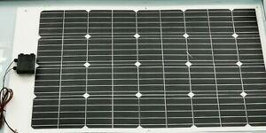 100W Marine Solar Panel Semi Flexible IP68 Motorboat Yacht and Caravan Motorhome