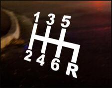 6 SPEED SHIFT, Car Decal Vinyl JDM Sticker Euro Drift RS ST VW Audi JAPAN Nissan
