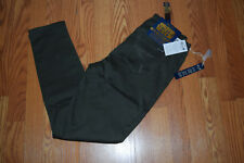 NWT Womens SEVEN 7 Olive Green Skin Fit High Waist Denim Jeans Pants Size 8 $69