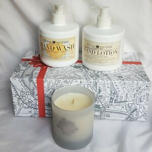 Royal Apothic Lot Lemoncello; Hand Wash, Hand Lotion, Candle in decorative box
